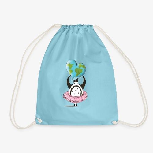 Penguin,earth,love - Drawstring Bag