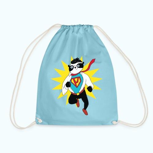 Retro vintage panda - Drawstring Bag