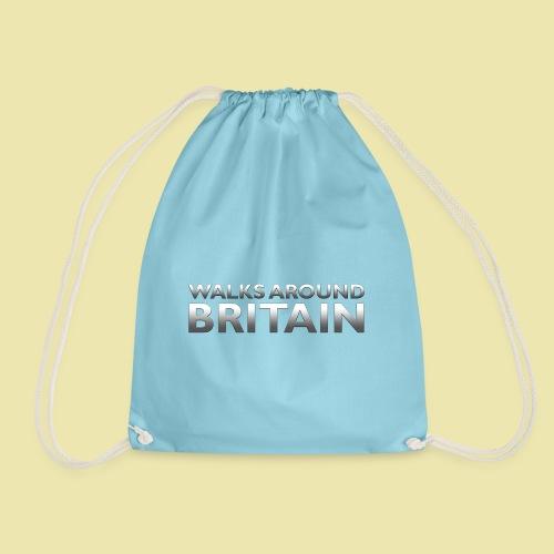 Walks Around Britain logo - Drawstring Bag
