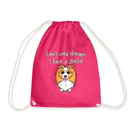 Sheltie Dog Therapy 2 - Drawstring Bag