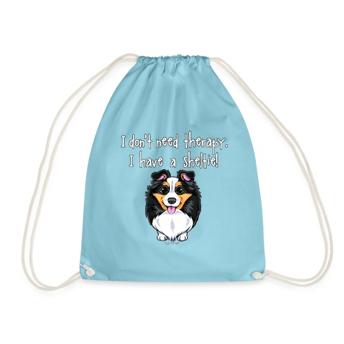 Sheltie Dog Therapy - Drawstring Bag