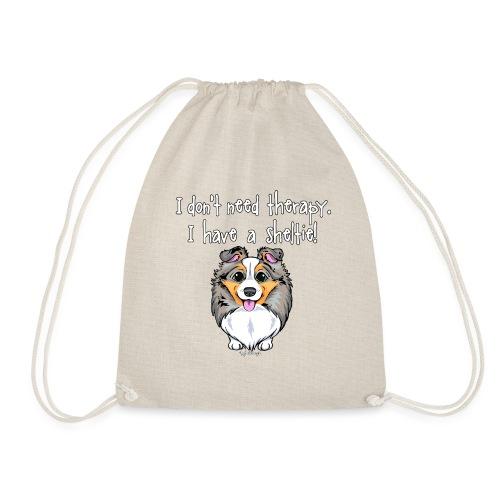 Sheltie Dog Therapy 3 - Drawstring Bag