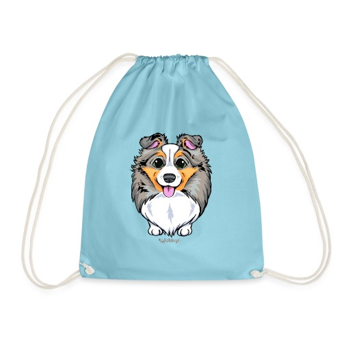 Sheltie Dog Cute 2 - Drawstring Bag