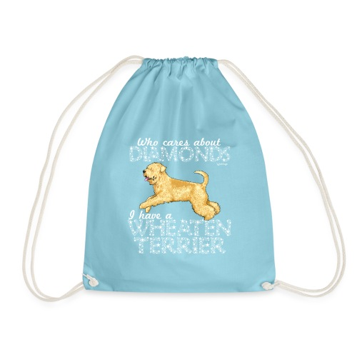 Wheaten Terrier Diamonds 3 - Drawstring Bag
