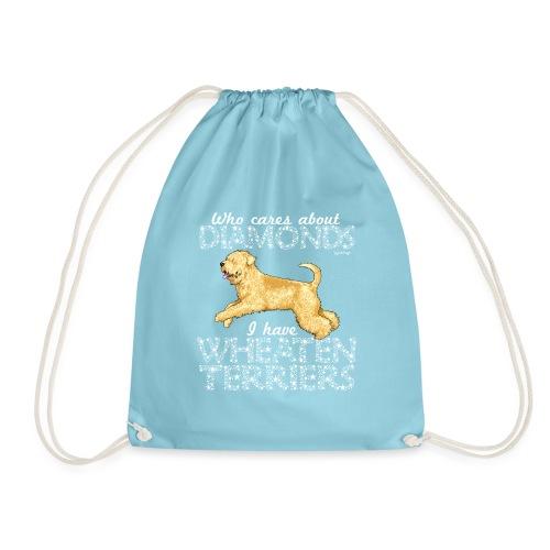 Wheaten Terrier Diamonds 2 - Drawstring Bag