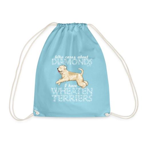 Wheaten Terrier Diamonds - Drawstring Bag