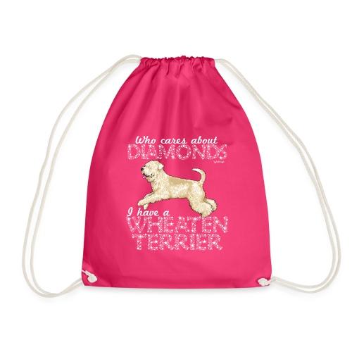 Wheaten Terrier Diamonds 4 - Drawstring Bag