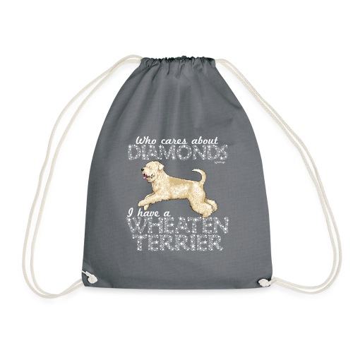 Wheaten Terrier Diamonds 4 - Drawstring Bag