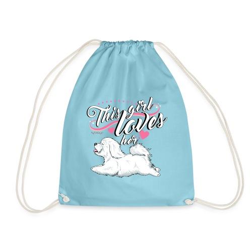 Coton De Tuléar Girl - Drawstring Bag