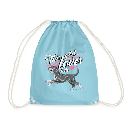 Giant Schnauzer Rice Girl2 - Drawstring Bag
