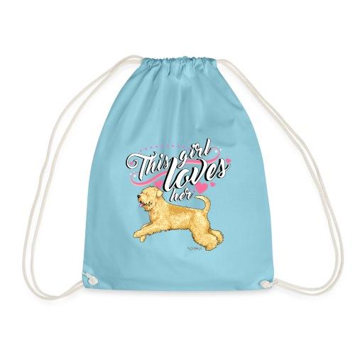 Wheaten Terrier Girl 2 - Drawstring Bag