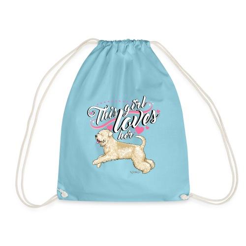 Wheaten Terrier Girl - Drawstring Bag