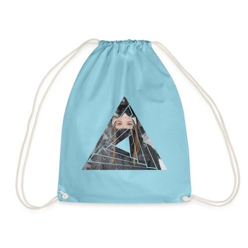 Snow Girl Triangle Graphic Design - Turnbeutel