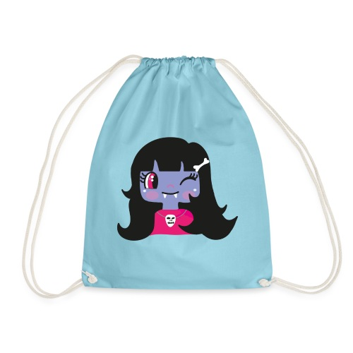 kawaii vampire - Drawstring Bag