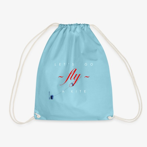Let's go fly a kite with characters - Drawstring Bag