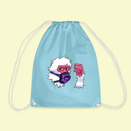 Snow Monkey Rave Mask - Drawstring Bag