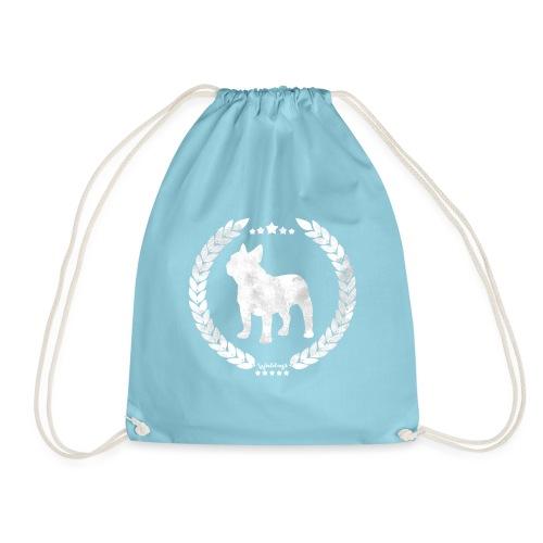 French Bulldog Army Silver - Drawstring Bag