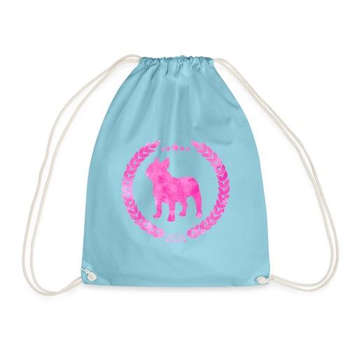 French Bulldog Army Pink - Drawstring Bag