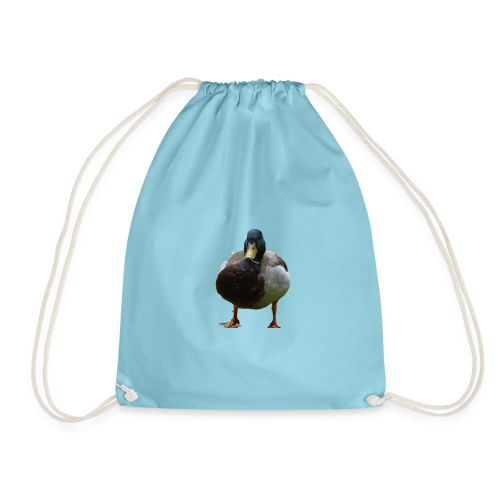 A lone duck - Drawstring Bag