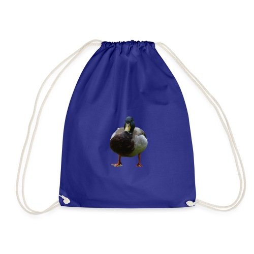 A lone duck - Drawstring Bag