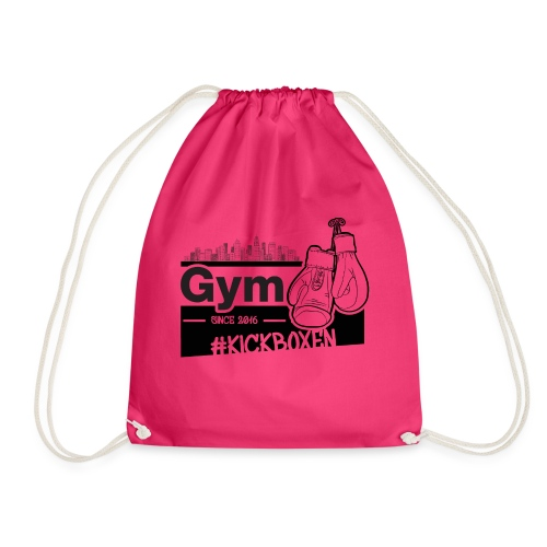 Gym in Druckfarbe schwarz - Turnbeutel
