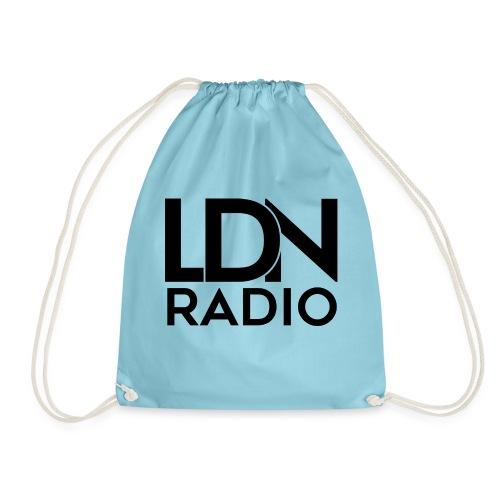 LDN Radio Logo black - Drawstring Bag