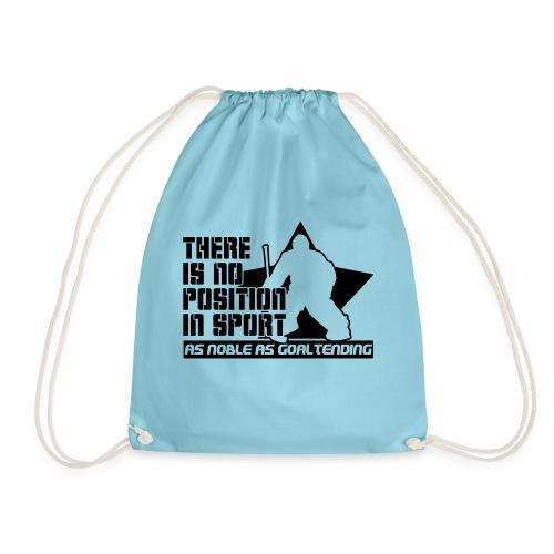 Ice Hockey Goalie Quote - Drawstring Bag