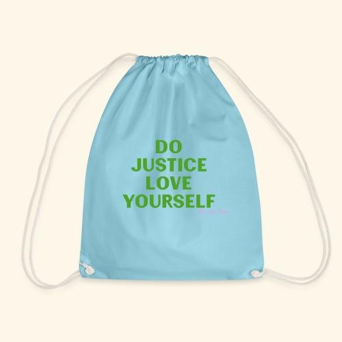 Do Justice: Love yourself Green - Mochila saco