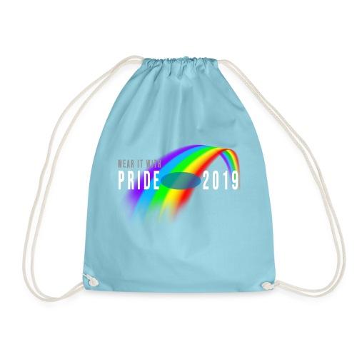 fyll inn navn selv pride rainbow b mlo white - Gymbag