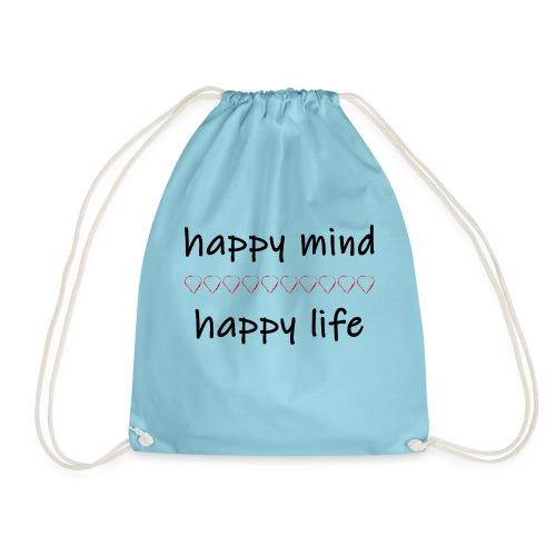 happy mind - happy life - Turnbeutel