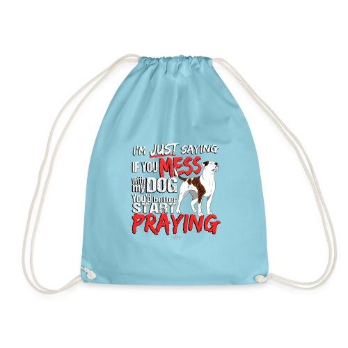 ambpraying3 - Drawstring Bag