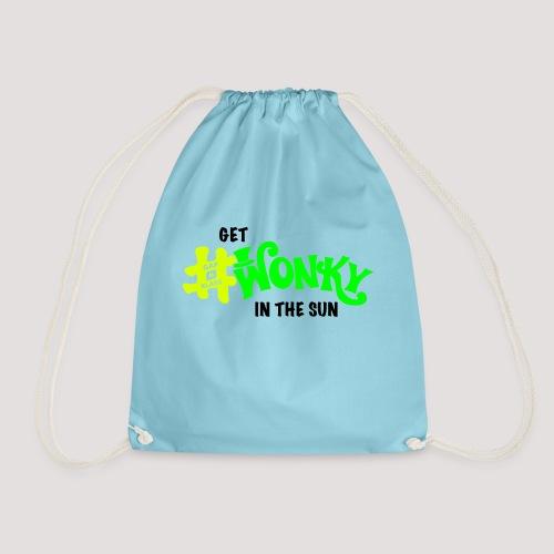 Wonky in the sun - Drawstring Bag