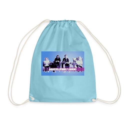 SanneVilleFamily Gaming med blå baggrund - Sportstaske