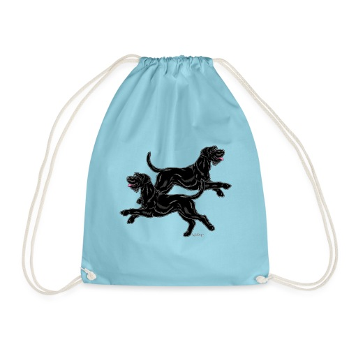 Riesenschnauzer Pair - Drawstring Bag