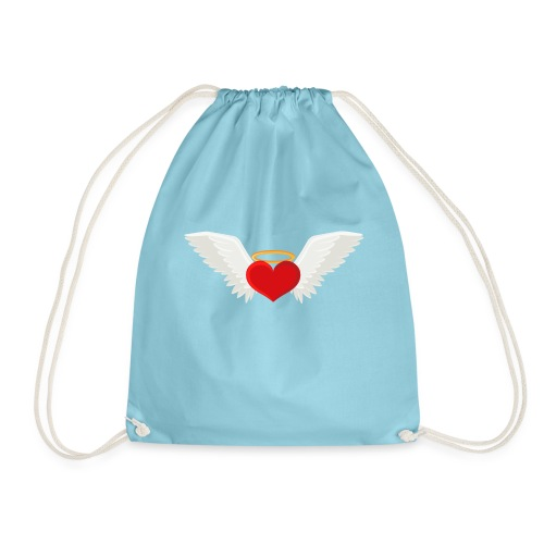 Winged heart - Angel wings - Guardian Angel - Drawstring Bag