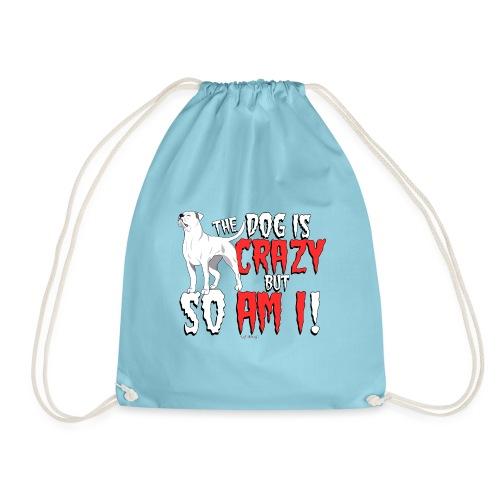 American Bulldog Crazy!2 - Drawstring Bag