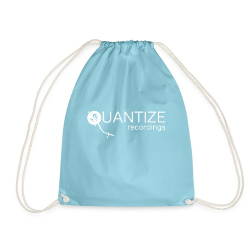 Quantize White Logo - Drawstring Bag