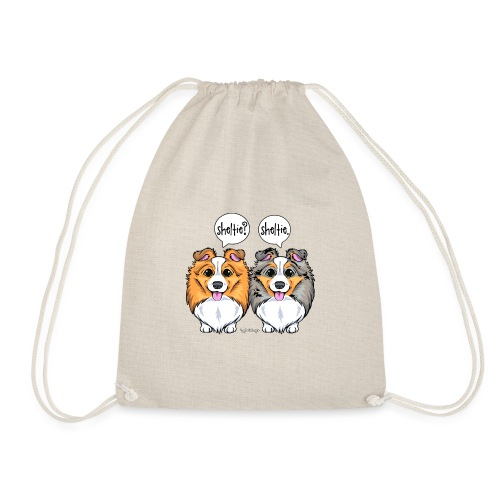 Sheltie Sheltie 3 - Drawstring Bag