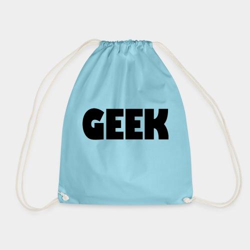 GEEK Text Logo Black - Drawstring Bag