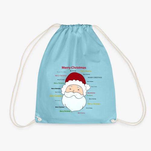 pere noel Merry x mas - Drawstring Bag