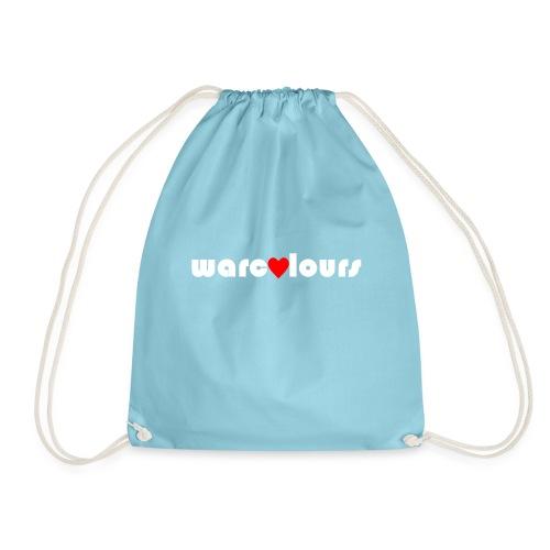 love warcolours white - Drawstring Bag