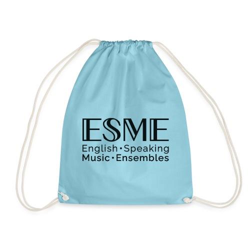 ESME Logo Schwartz - Turnbeutel