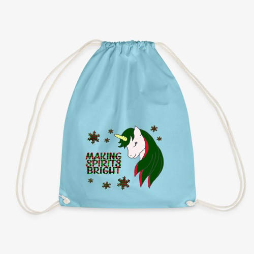 Unicorn making spirit bright - Sac de sport léger