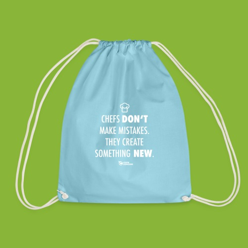 Chefs don't make mistakes - Drawstring Bag