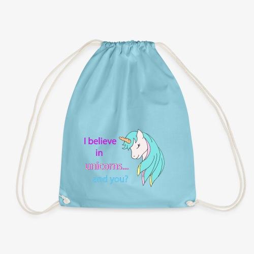 i believe in unicorns - Sac de sport léger