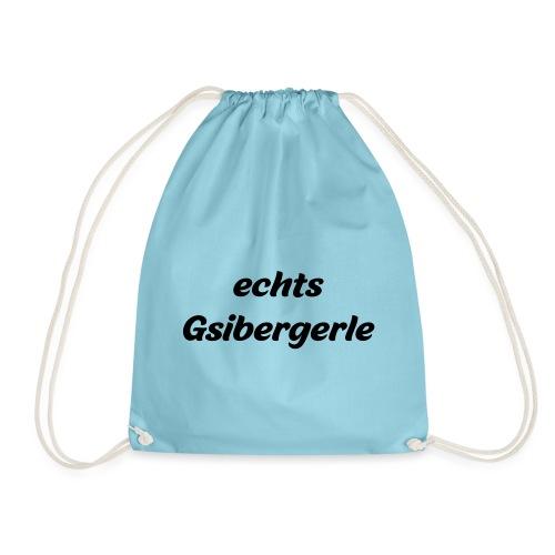 echts Gsibergerle - österreichischer Dialekt - Turnbeutel