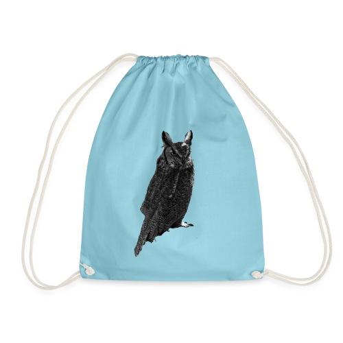 Sitting Owl - Drawstring Bag