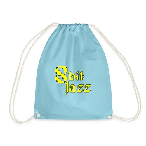 8 Bit Jazz Logo - Yellow - Drawstring Bag