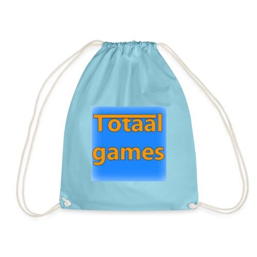 Totaal Games Blauw - Gymtas
