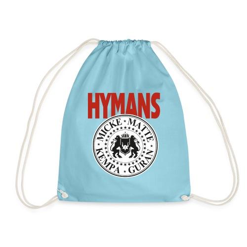 Hymans Red White Black logo - Gymnastikpåse